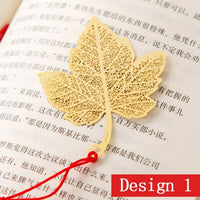 Vintage Gold Metal Leaf Vein Bookmark for Book Luxury Business Gift with Card Envelopeor for Teachers Student Stationery Supply