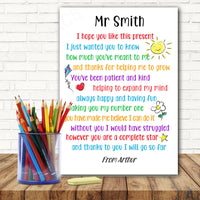 Personalised Teacher Gifts School Nursery Pre School Leaving Thank You Present m