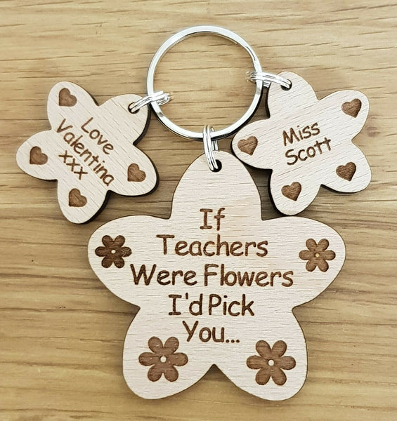 PERSONALISED GIFT FOR TEACHER CHRISTMAS SCHOOL NURSERY END OF YEAR GIFTS KEYRING