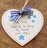 Teacher Gifts Personalised Plaque Pre School Nursery Thank you Leaving Sign ⭐
