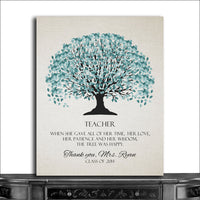 (CWA-1051) Personalized School Teacher Appreciation End of Year Gift From Stu...