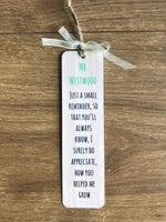 Personalised Thank You Teacher Bookmark Metal Teacher Gift End Of Term Gift
