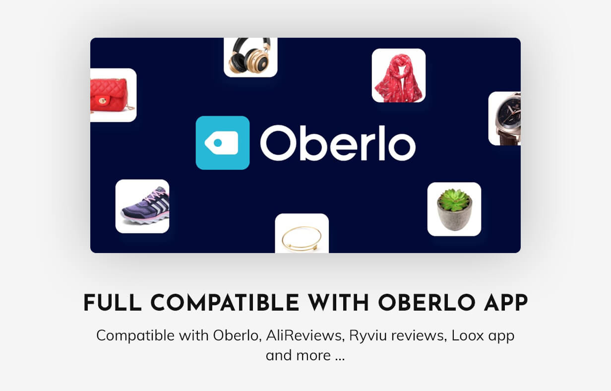 Compatible with Oberlo app for dropshipping
