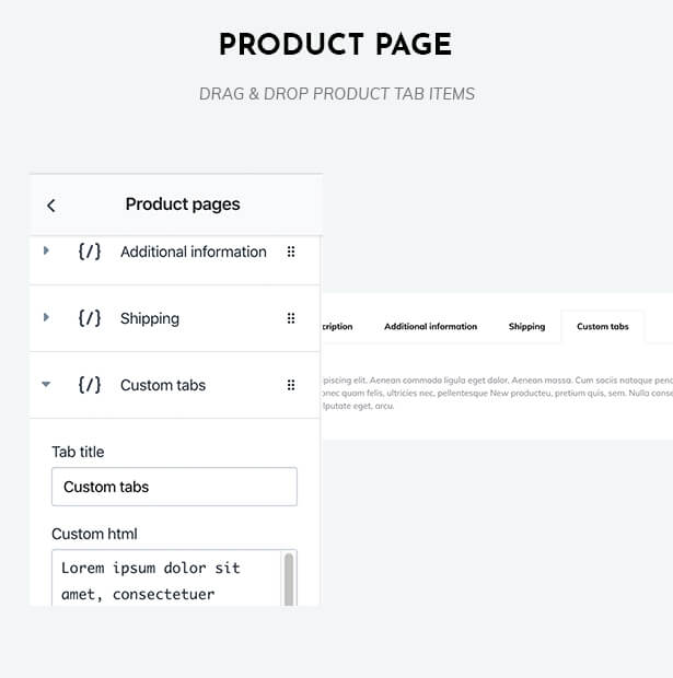 Drag & drop the product page
