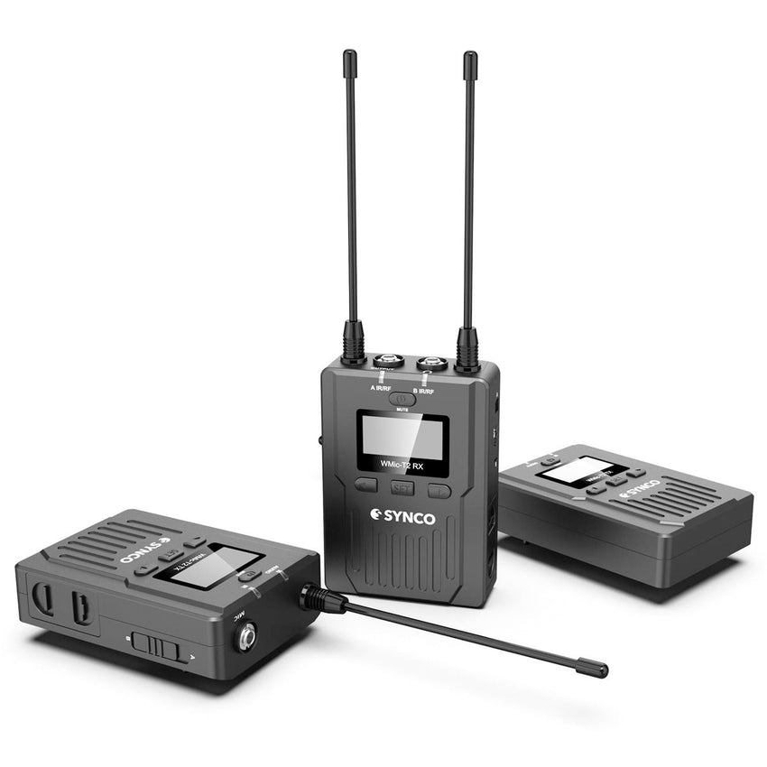 Synco Audio WMic-T2 96-Channel UHF Metal Wireless Microphone with Dual Transmitters and Receiver