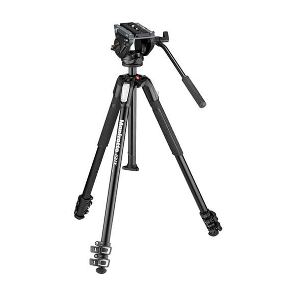 Manfrotto MVK500190X3 MVH500AH Fluid Video Head with MT190X3 tripod