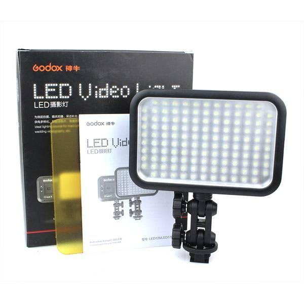 Godox LED126 Video Lamp Light Filter For Digital Camera Camcorder DV Canon Nikon Sony Panasonic