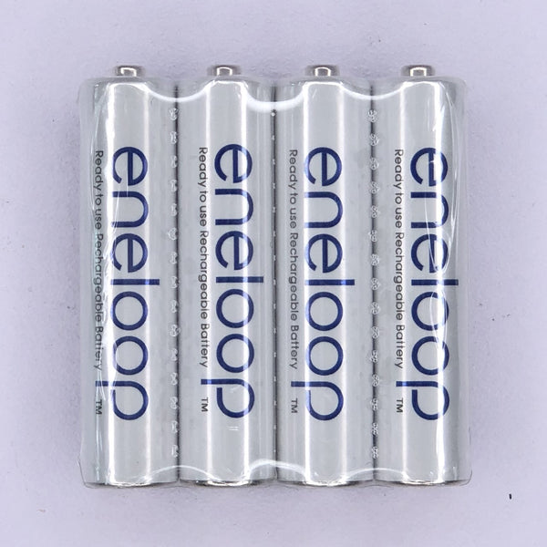 Panasonic eneloop BK-4MCCE/4ST AAA Rechargeable Battery Pack of 4 (White) in Shrink Pack