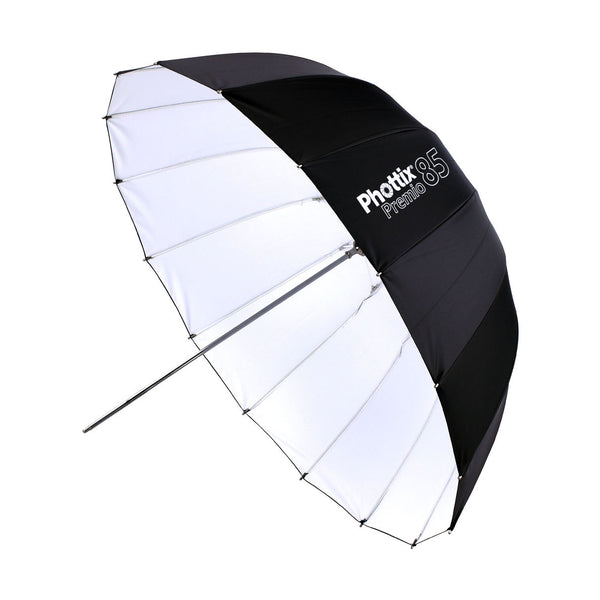 Phottix Premio Reflective Umbrella 85cm / 33 Inches - Black and White (85377 , PH85377)