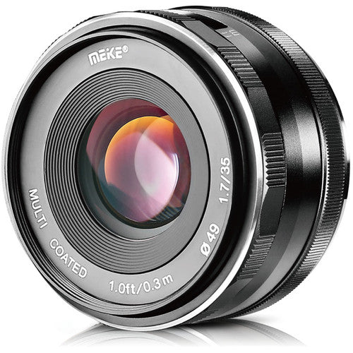 MEIKE 35mm 1.7 WITH FREE LENS HOOD Large Aperture Manual Focus Prime Lens APS-C for FUJI