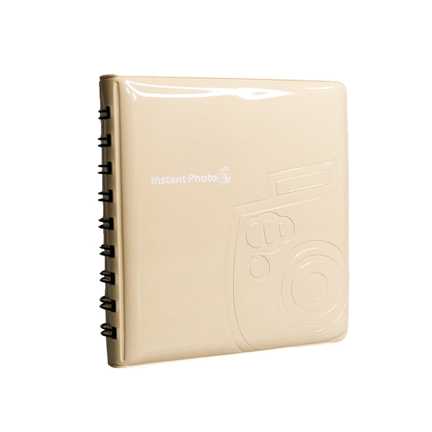Authentic Fujifilm Official Instax Mini Album 64 Pocket Slots | Beige