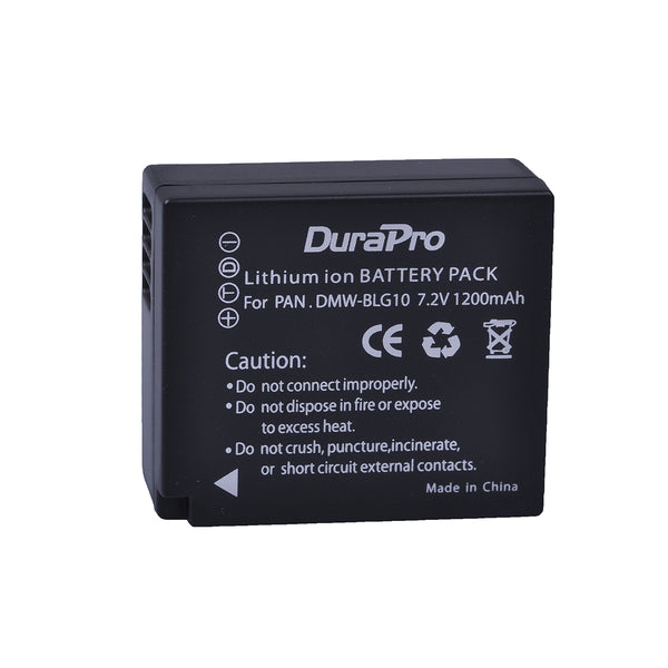 2 pcs DuraPro DMW-BLG10 DMW BLG10E BLG10 Camera Battery