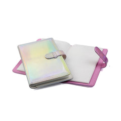 Fujifilm Instax Photo Album 96 Slot | 96 Pocket Iridescent Pink | Shiny Silver
