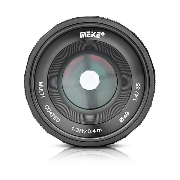 Meike 35mm f/1.4 Lens for Sony E Mount with FREE LENS HOOD 35mm MK35mm 35 1.4