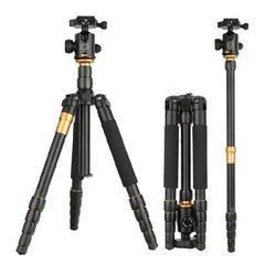 Q666 Professional Aluminum Monopo / Tripod with Ball Head for DSLR Mirrorless (Screw Lock)