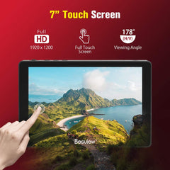 "Desview R7P Camera Field Monitor Touch Screen 7"" 4K HDMI 1000nit 1920 * 1200 HDR 3D-LUT/Waveform/Vector Scope for DSLR Camera Camcorder"