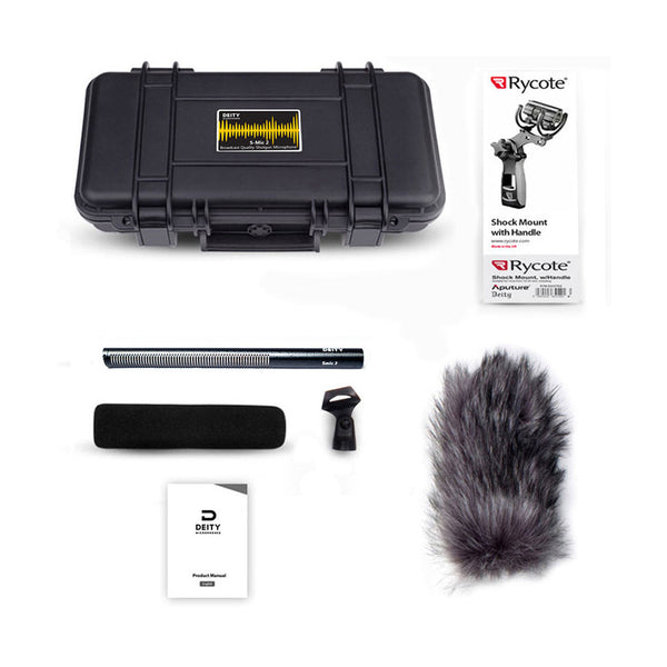 Deity Microphones S-Mic 2 Location Kit Moisture-Resistant Shotgun Microphone with Pistol Grip Shockmount and Windjammer