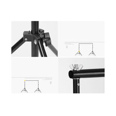 2.4 x 3m / 7.8 x 10ft Photography / Video Background Stand / Adjustable Studio Photo Backdrop Support Kit with Carrying Bag for Photo / Video Shooting
