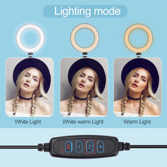 Table Top LED Ring Light with Stand for Livestreaming , Tiktok , Vlogs , Makeup (RL10T , RL08T , RL06T)