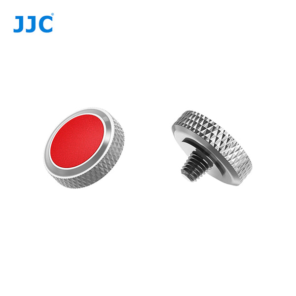 JJC SRB Deluxe Shutter Button Grey-Red / Soft Shutter Release (SRB-GR RED)