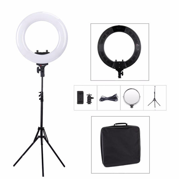 "R48b Dual Color 18"" Stepless Dual Tone LED RING LIGHT / R48b Beauty Photography Lighting Studio"