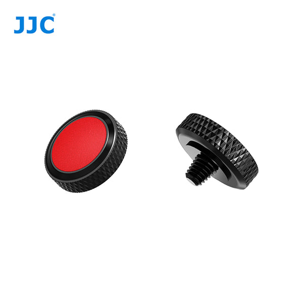 JJC SRB Deluxe Shutter Button BLACK-RED/ Soft Shutter Release (SRB-BK RED)