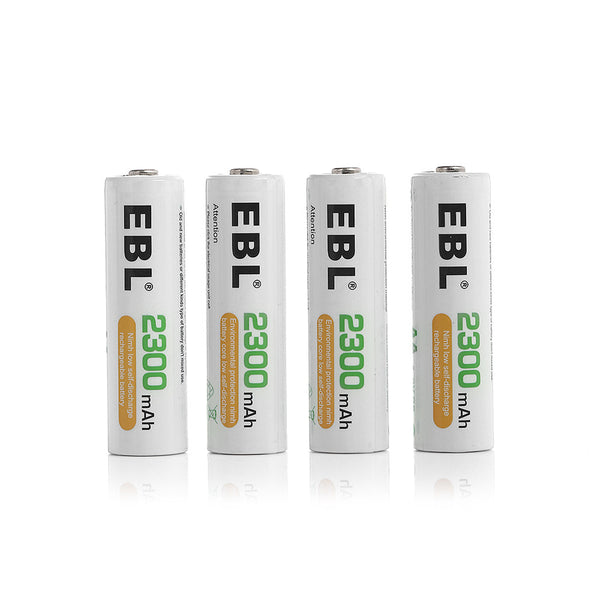 EBL 4 Pack 1.2V AA Size 2300mAh Rechargeable Battery - Ni-MH NiMH Batteries