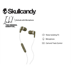 SkullCandy INK'D 2.0 Wired Earbuds with Microphone In-Ear Headphones Earphones INKD 2.0