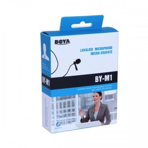 Boya BY-M1 Omnidirectional Lavalier / Lapel Microphone for Smartphones / DSLRs