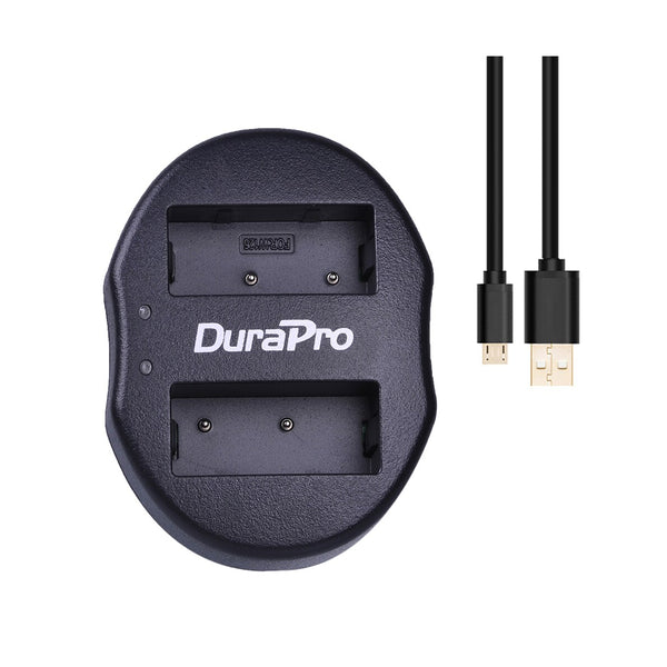 DuraPro Fujifilm NP-W126 2pcs Battery and Dual USB Charger for Fujifilm Mirrorless Cameras