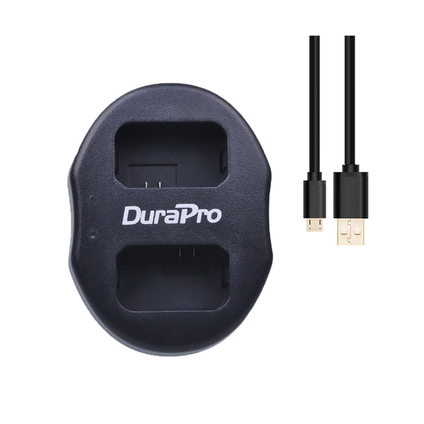 DuraPro Sony NP-FW50 2pcs Battery and Dual USB Charger for Sony Cameras NPFW50 900mah