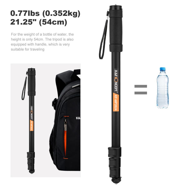 "K&F Concept MP-2624 Camera Monopod 4-Section 67""/171CM Compact Portable Travel DSLR Monopod KF09.011"