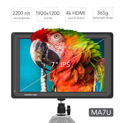 Feelworld Master MA7U 7 inch 3G SDI 4K HDMI Field Monitor, Full HD 1920x1200 IPS Director Video Monitor