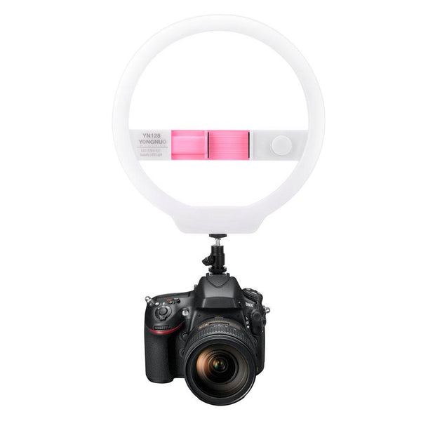 Yongnuo YN128 / YN 128 LED Ring Light with Variable Color Temperature Output 3200-5000K LED Beauty Vlogging Makeup Photography Studio