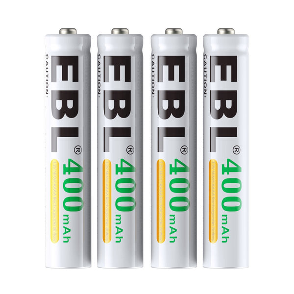 EBL 4 Pack 1.2V AAAA Size 400mAh Rechargeable battery - Ni-MH NiMH