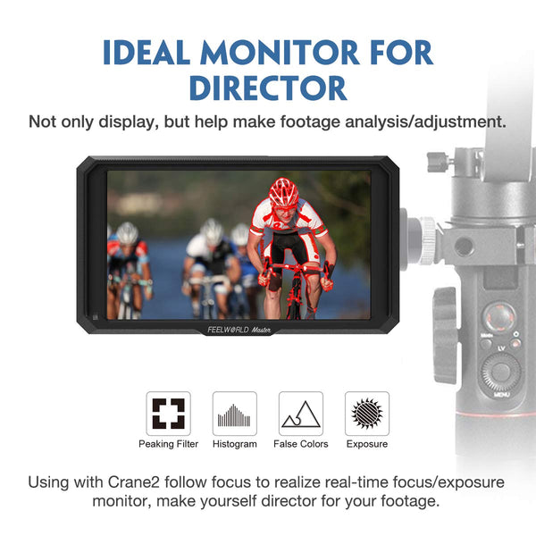Feelworld Master MA5 5 inch Camera Field Monitor, with 4K HDMI 8V DC in/Out, Full HD 1920x1080 IPS Video Assist for DSLR