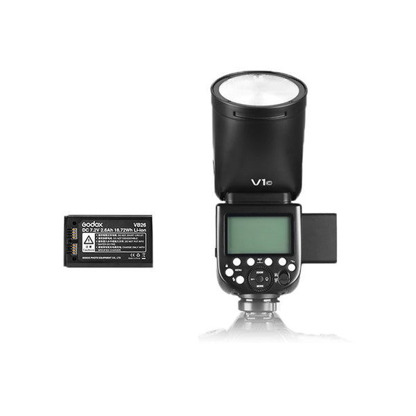 Godox V1-F V1 Fujifilm Flash, 1.5 sec Recycle Time,1/8000 HSS, 480 Full Power Shots, 2600mAh Lithium Battery for Fujifilm Fuji X Mount