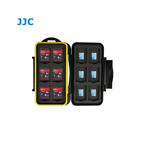 JJC Memory Card Case fits for 12XSD cards,12X Micro SD Cards (MC-SDMSD24)