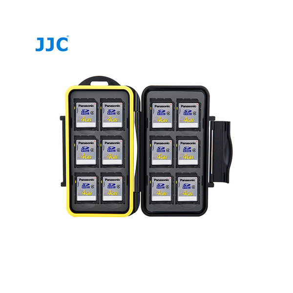 JJC Memory Card Case fits for 12 SD Cards (MC-SD12)