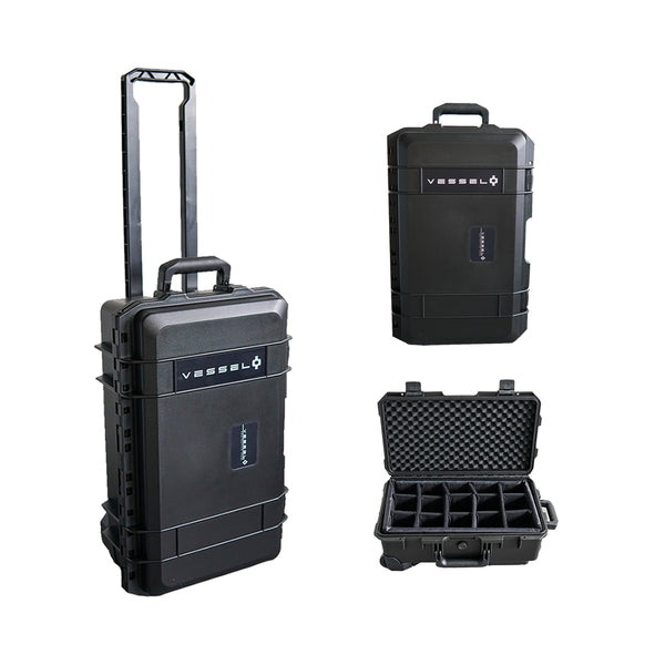 VESSEL CC1 Trolley Hard Case Camera Photography Equipment Case (Black)