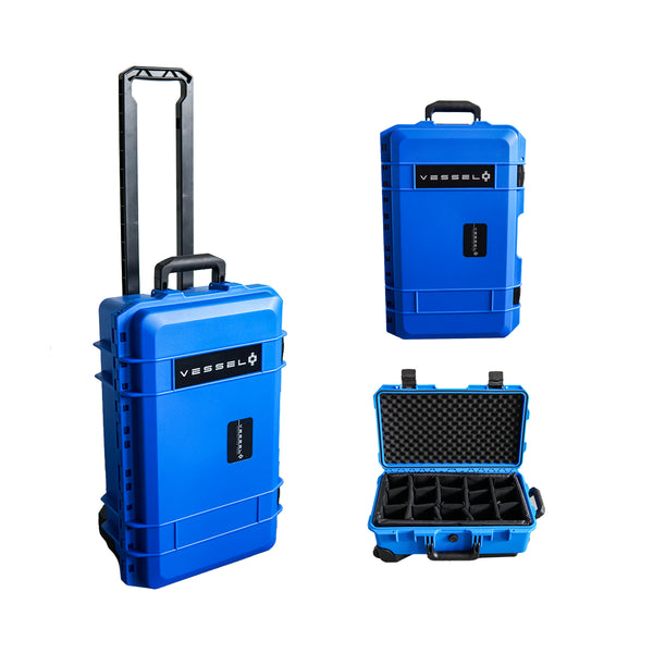 VESSEL CC1 Trolley Hard Case Camera Photography / Musical Instruments / Gear / Equipment Case (BLUE)