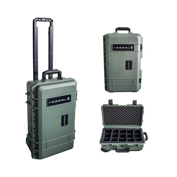 VESSEL CC1 Trolley Hard Case Green Camera Photography Equipment Case (Green)