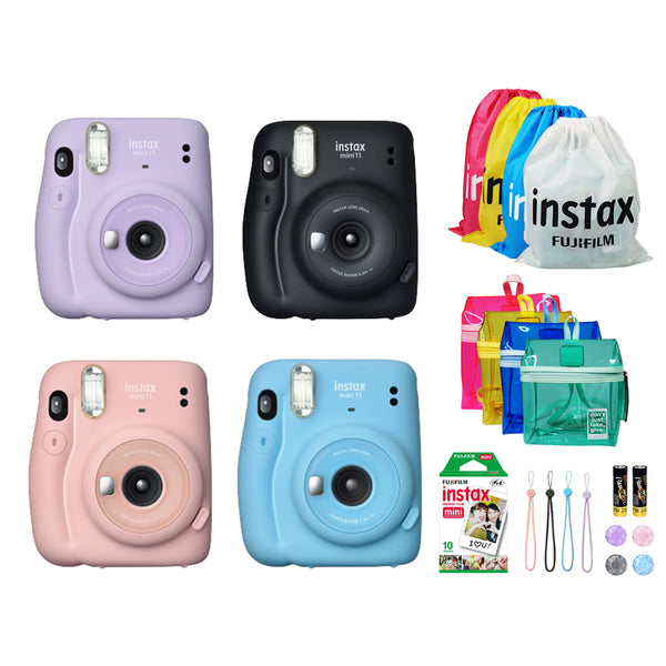 FUJIFILM Instax Mini 11 Instant Camera Jelly Bean Package | OFFICIAL Fujifilm PH | 1 Year Local Warranty | with AA Batteries
