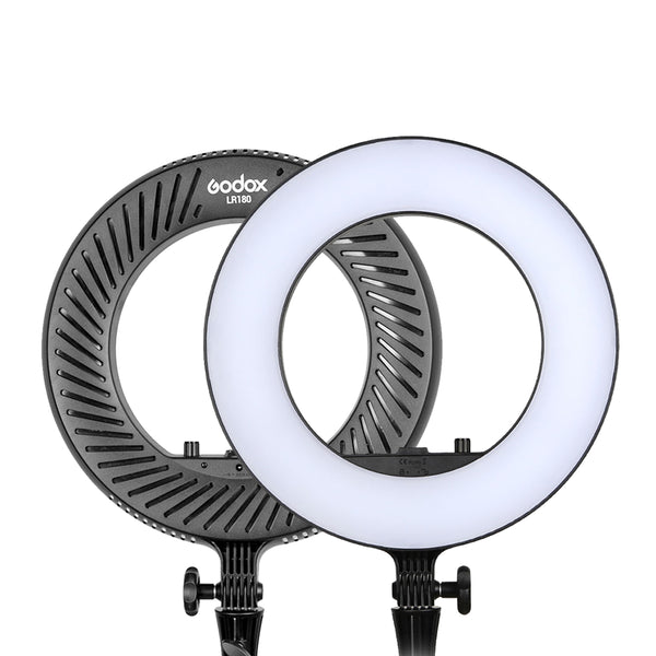 "Godox LR-180 LED Bi-Color Ring Light 14.2"" 36.1cm 180 LEDs Fill Light for Photography Vlogging Makeup LR180"