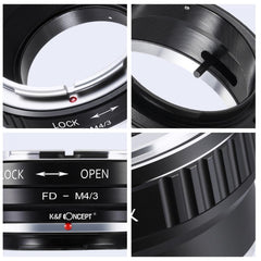 K&F Concept Canon FD Lenses to M43 MFT Mount Camera Adapter