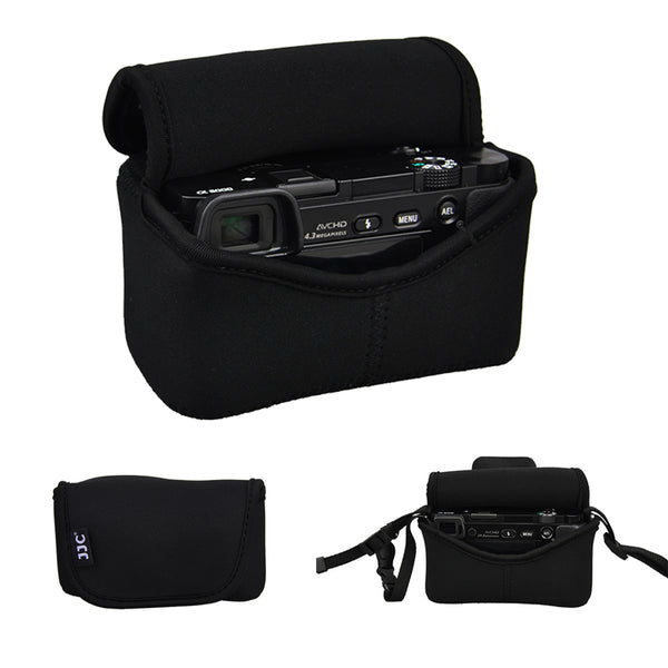 JJC OC-S1Bk Mirrorles Neoprene Camera Pouch For Compact Cameras A6500 A6000 A6300 Fujifilm Canon Olympus