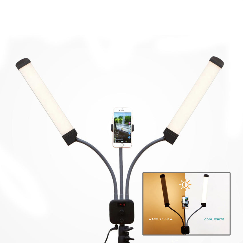 LED12 DualFlex LED Dual Tone Lighting Kit with FREE 6ft Stand / Photography / Beauty / Vlogging / Make Up