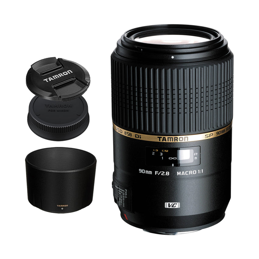 Tamron F004 AF SP 90mm f/2.8 Di VC USD 1:1 Macro Prime Lens for Canon DSLR EF Mount Full FrameTamron F004 AF SP 90mm f/2.8 Di VC USD 1:1 Macro Prime Lens for Canon DSLR EF Mount Full Frame