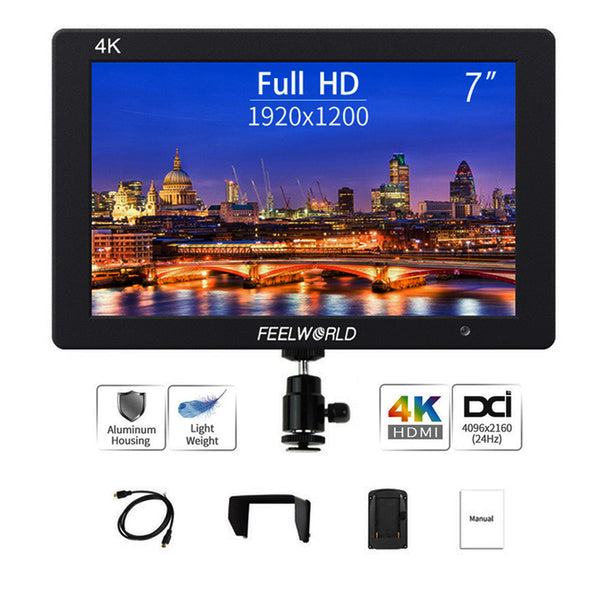 FEELWORLD T7 7 Inch IPS 4K HDMI Camera Field Monitor LCD Video Assist Full HD for DSLR Mirrorless