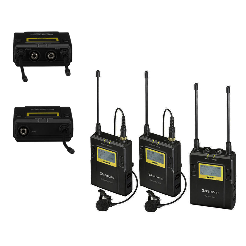 Saramonic UWMIC9 2-Person Camera-Mount Wireless Omni Lavalier Microphone System